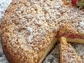 Crumble cake Fragole Rabarbaro Ottolenghi