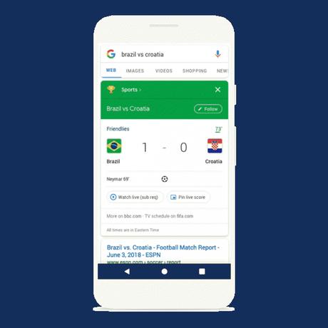 Come mantenersi aggiornati sui Mondiali di Russia 2018 con Google