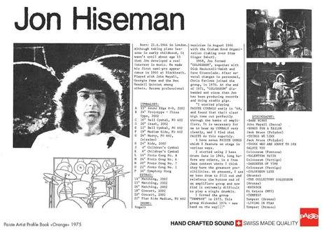 Ci ha lasciato John Hiseman