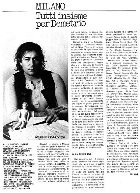 Demetrio Stratos ci lasciava il 13 giugno del 1979