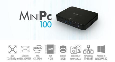 Mediacom MiniPC 100 disponibile da giugno a 169 euro