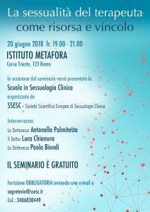 Roma | La sessualità del terapeuta come risorsa e vincolo