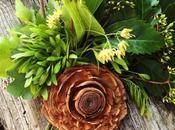 #fioridivenerdì- mazzolino fiori tiglio rosa legno