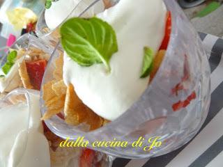 Coppe di fragole con crema al mascarpone e menta
