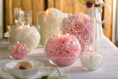 candele centrotavola matrimonio