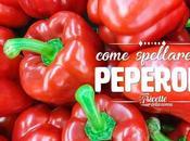 Come spellare peperoni