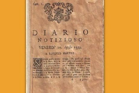 Diario Notizioso: il primo quotidiano d'Italia è nato a Napoli