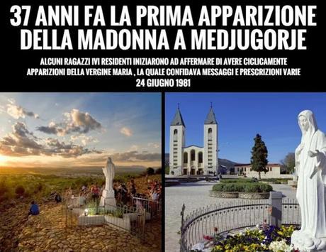 37 anni fa la prima apparizione della Madonna a Medjugorje