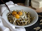 Capunti grano arso pomodorini gialli cacioricotta lucana