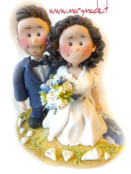 Il Cake Topper di Laura, gli sposi in vestiti Vintage