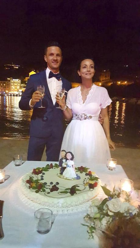 cake topper di Laura col vestito vintage