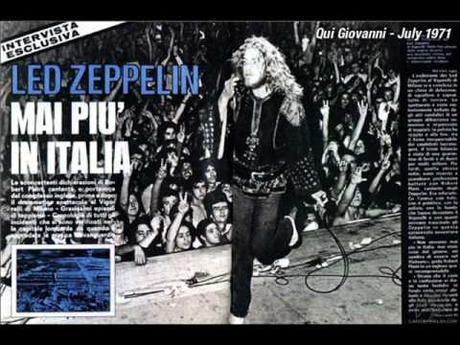 Led Zeppelin al Vigorelli: era il 5 luglio del 1971