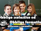 Obbligo scolastico formativo: differenze normative
