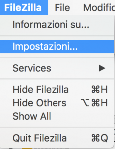 Controllare file di log di Filezilla