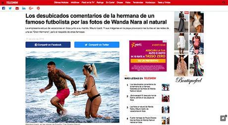 Wanda Nara paparazzata senza Photoshop, ma lei non ci sta e scatta il video hot