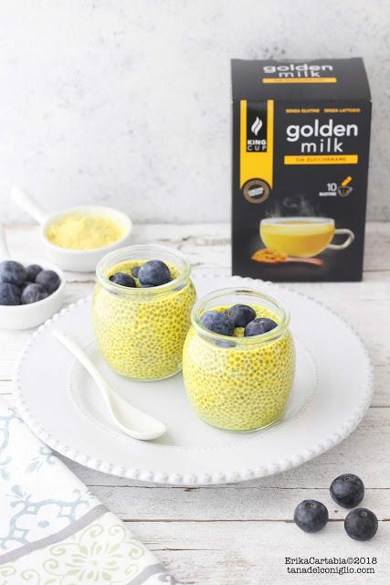 Golden milk chia pudding