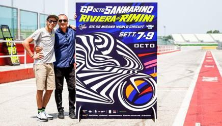 MotoGP Misano, ecco il poster di Drudi: pure Vale alla presentazione