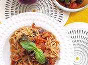 Spaghetti sugo melanzana pomodoro fresco