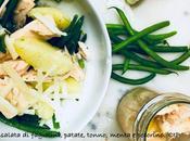 Insalata fagiolini, patate, tonno, menta pecorino