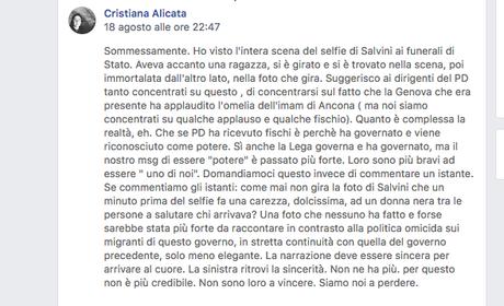 Ritrovare un senso comune (di cosa è successo dopo il mio post sul selfie di Salvini)