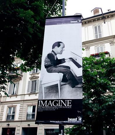 Imagine… Berlusconi as Lennon!