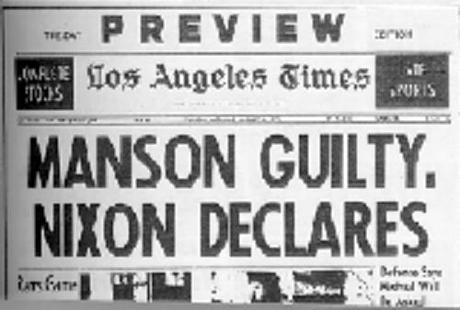 CHARLIE MANSON: GUILTY
