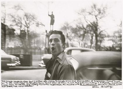 Jack Kerouac wandering along East 7th Street