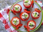 Pomodori Ripieni Bulgur Feta, Cipollotti Olive Greche