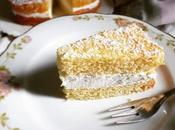 Torta paradiso farcita panna vegetale miele