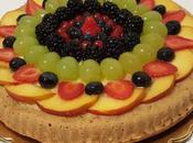 Torta alle nocciole frutta mista fresca