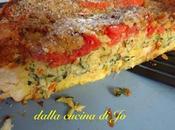 Torta salata pane, zucchine pomodori