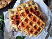 Waffles salati patate formaggio