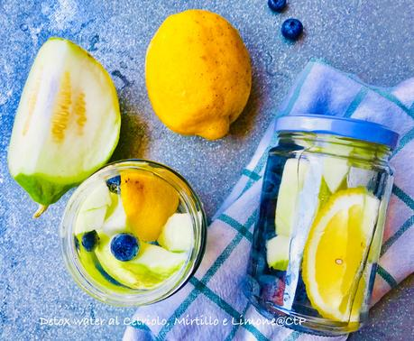 Detox Water - Acqua depurativa al Cetriolo, Mirtillo e Limone