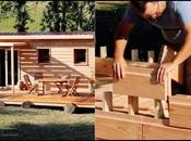Case realizzate mattoni legno