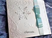 Partecipazioni matrimonio invernale tema cristalli neve azzurro ghiaccio