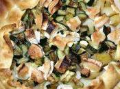 Torta salata porri, zucchine chèvre