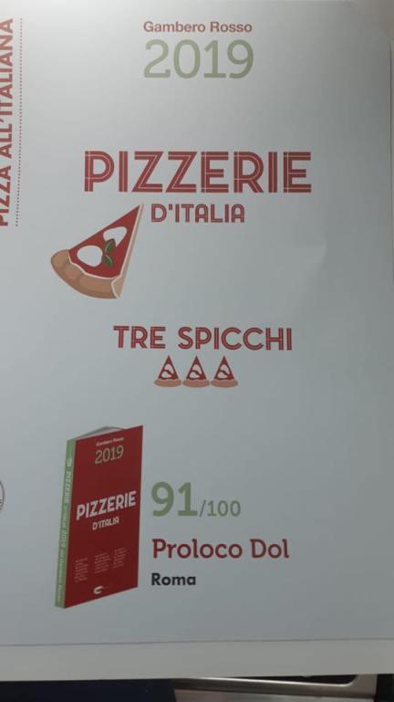 Proloco D.O.L. sulla guida Pizzerie d'Italia 2019 del Gambero Rosso