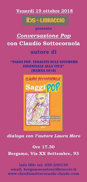 Chi va con lo Zoppo... non perde CLAUDIO SOTTOCORNOLA a Bergamo il 19 ottobre