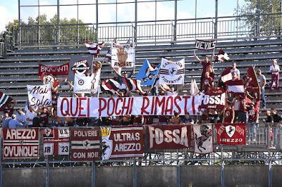 Ultras Arezzo: 'No alle squadre B! Diciamo No alla trasferta di giovedì prossimo contro la Juventus B'
