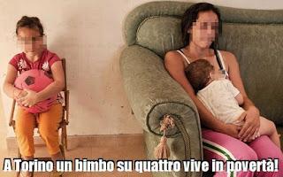 Torino. Un bimbo su quattro vive in povertà. di Maria Aldobrando