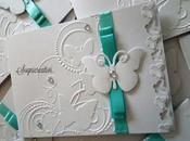 Partecipazioni matrimonio nozze bianco tiffany tema farfalle
