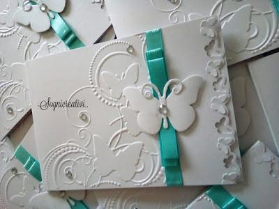 Partecipazioni Matrimonio Color Tiffany.Partecipazioni Matrimonio Nozze Bianco E Tiffany Tema Farfalle