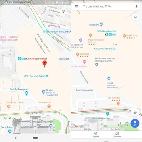 Google Maps, la valutazione dei luoghi è ora visibile sulla mappa - Notizia