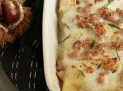 Crepes ripiene salsiccia castagne