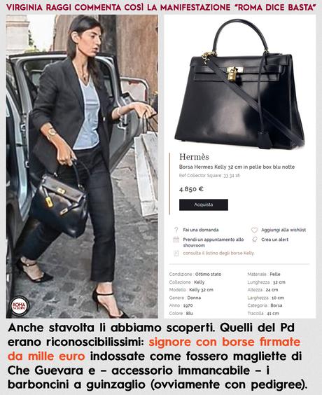 La borsa di Virginia Raggi? E' una fake Hermès Made In Italy