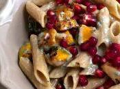 Pennoni legumi cereali zucca, gorgonzola melograno