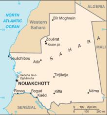 Risultati immagini per mauritania cartina