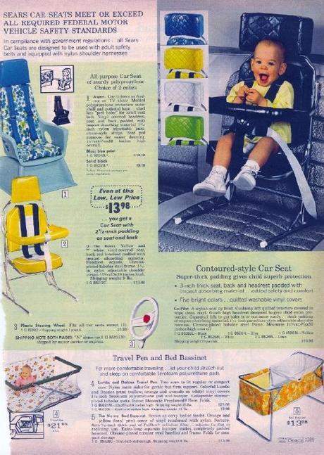 com'erano i seggiolini auto una volta