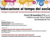 """""""L'educazione tempo social"""" Convegno gratuito Benedetto Tronto"""
