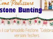 Come realizzare bunting stoffa cartamodello Festone Celebrate!